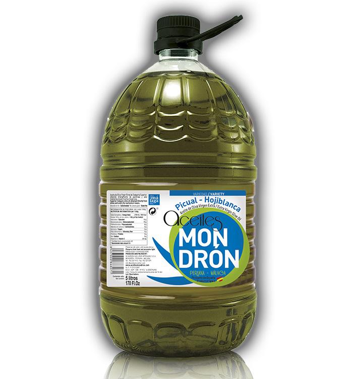 Aceite de Oliva Mondrón Virgen Extra PICUAL 5L. Pet