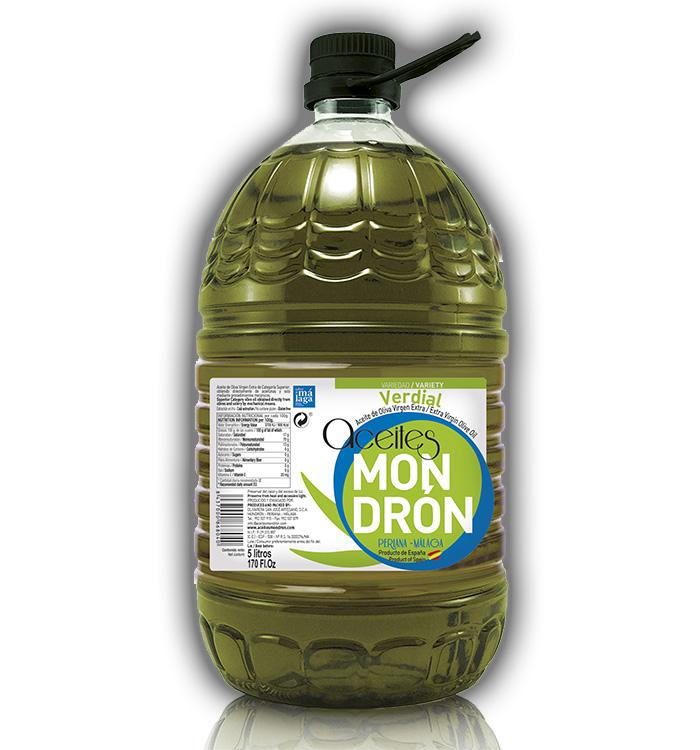 Aceite de Oliva Mondrón Virgen Extra VERDIAL 5L. PET