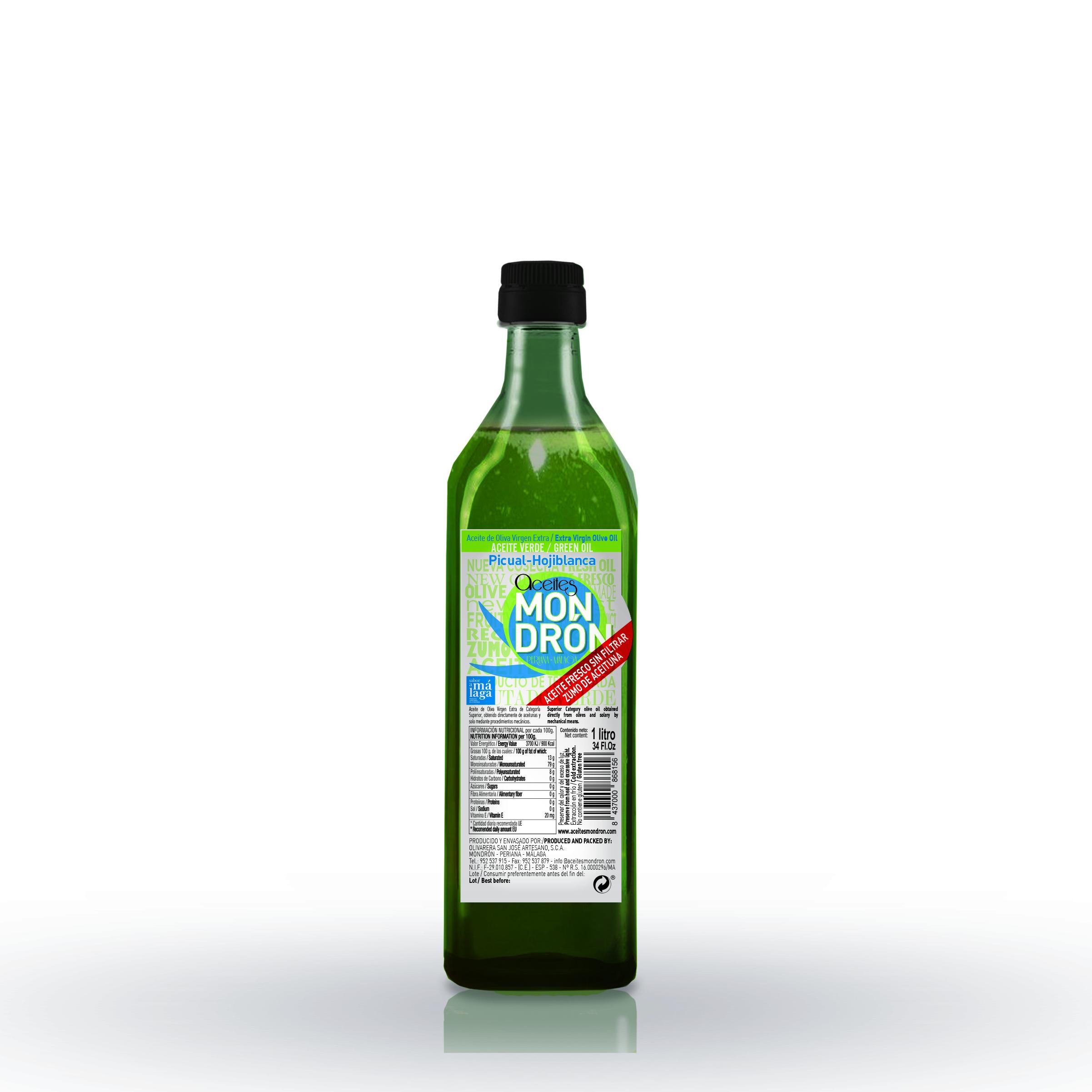 Aceite de Oliva Virgen Extra, Fresco Sin filtrar Picual y Hojiblanco 1L